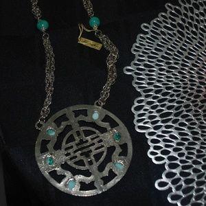 Kenneth Lane Jewelry - Kenneth Lane Large Circular Medallion Necklace